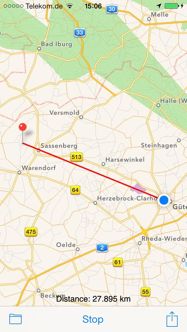 GPS Finder Screenshot