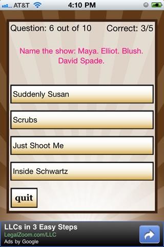 TV Show Quizzle™ screenshot-3