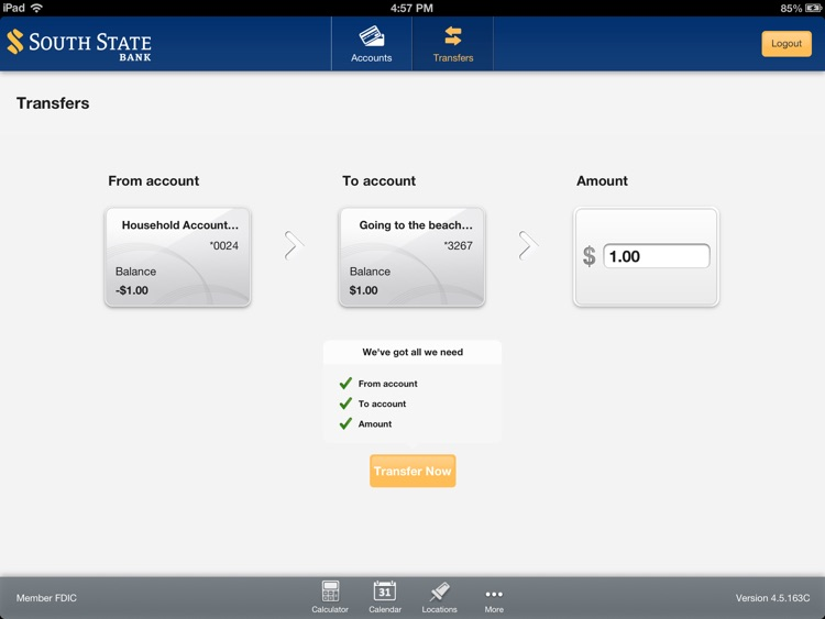 South State Mobile Banking for iPad screenshot-3