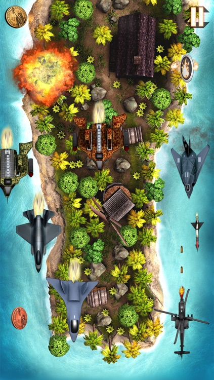 Aerial Battle Choppers - Free Helicopter War Game screenshot-3