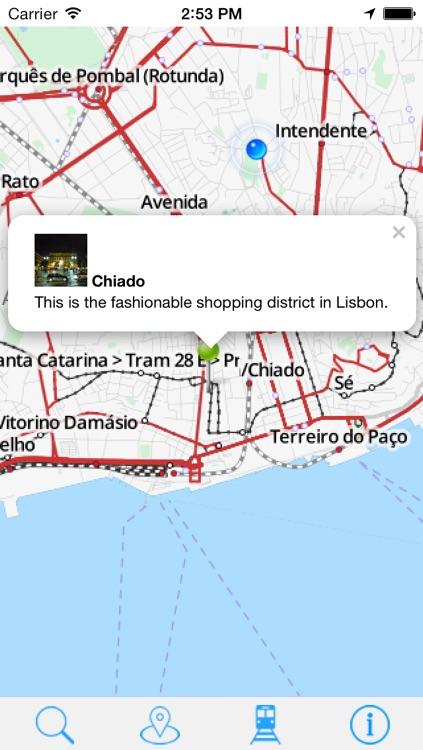 Offline Map Lisbon - Guide, Attractions and Transport screenshot-3