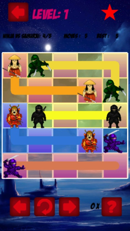 Samurais vs Ninja: Stupid Color Drawing Game screenshot-3