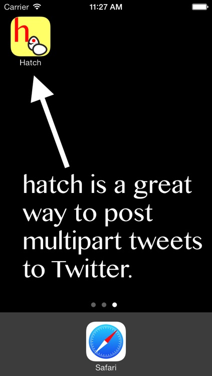 Hatch: Multipart Tweet Composer screenshot-0