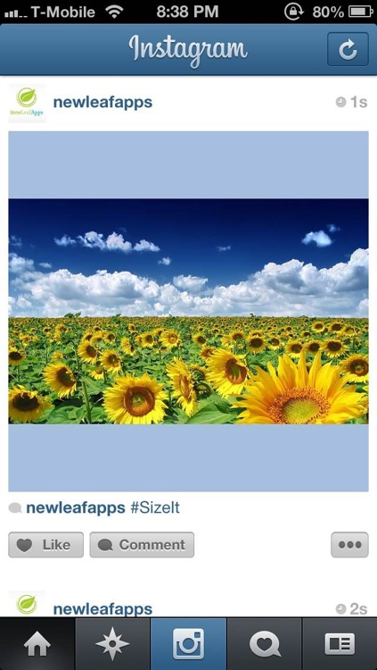 SizeIt for Instagram - Post Full-Sized Photos WIthout Cropping! screenshot-3