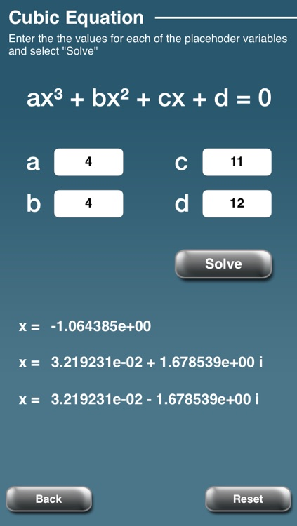 Cubic Equation Calculator and Solver by Claire Holmes