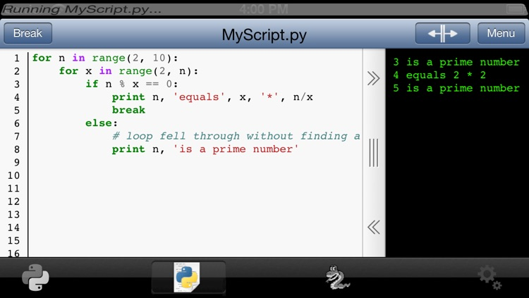 Python 2.7 for iOS screenshot-1