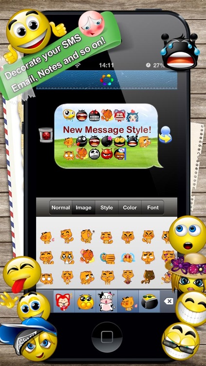 Message Designer - Emoticon Catalog