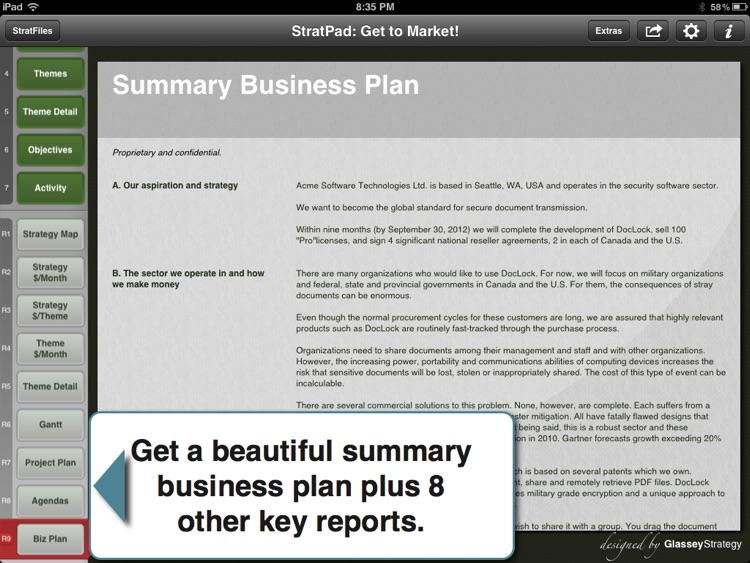 Entrepreneur's Business Plan screenshot-3