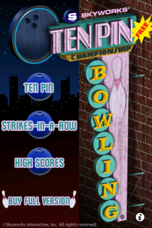 Ten Pin Championship Bowling® Free screenshot-0