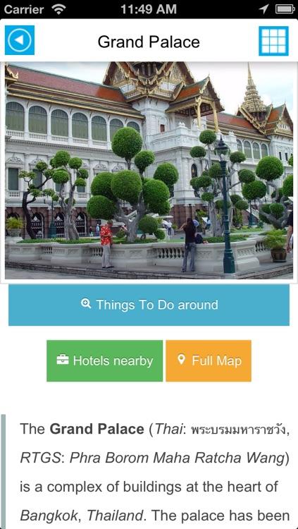 Bangkok offline map, guide & hotels screenshot-3