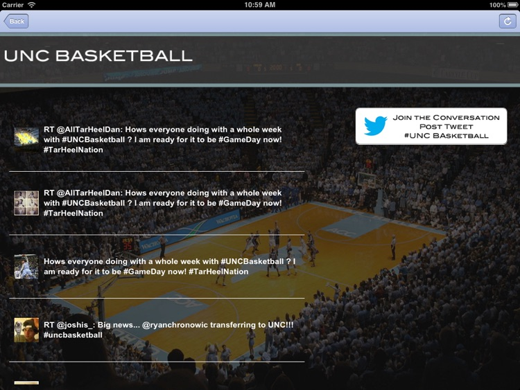 UNC Hoops Fan for iPad screenshot-3