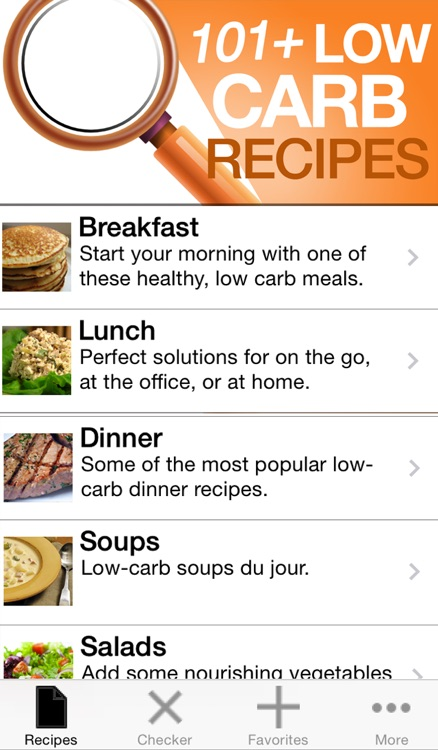 101+ Low Carb Recipes screenshot-0