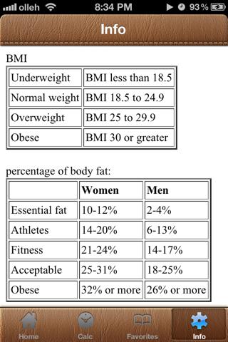 BodyFat Calorie Calculator FREE screenshot four