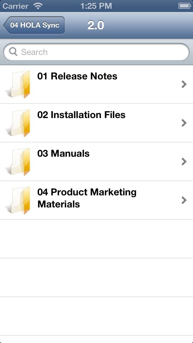 HOLA Mobile Screenshot on iOS