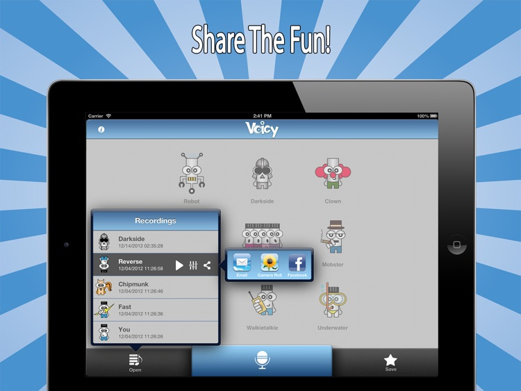 Voicy Voice Changer Free HD - Alter Your Sound into Funny Chipmunk Helium Ghost and Many More!