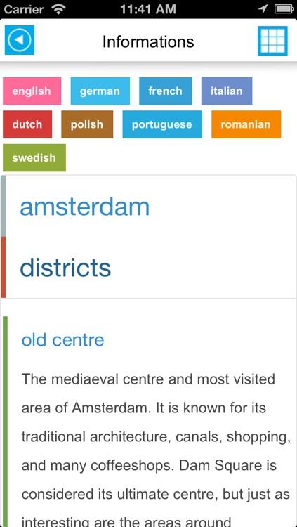 Amsterdam offline map, guide & hotels screenshot-4