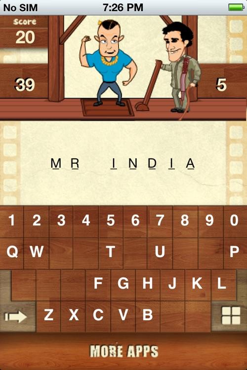 Hangman Bollywood For iPhone screenshot-3