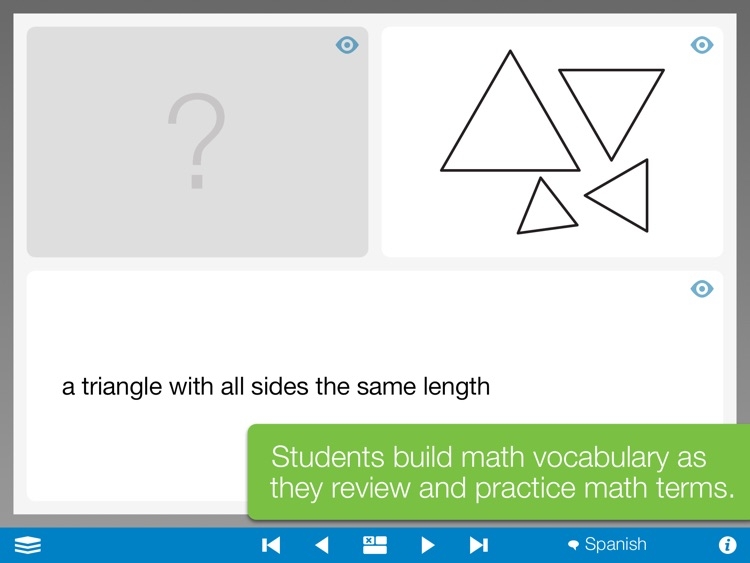 Math Vocabulary Cards, by the Math Learning Center