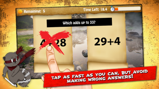 Raccoon Ninja: Addition Subtraction Games and Problems for Fast Basic Kindergarten Math Lessons screenshot four