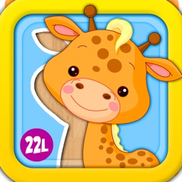 Animated Puzzle Game with Animals and Vehicles for Toddler and Preschool Kids by Abby Monkey®