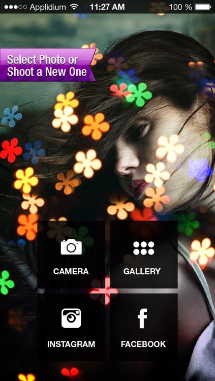 Insta Flower Bokeh Photo Effects FX - Post Your Flowery full Bokeh Light Pics on Instagram, Twitter, Facebook