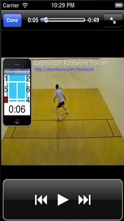 Badminton Trainer.Footwork training for badminton games screenshot-4