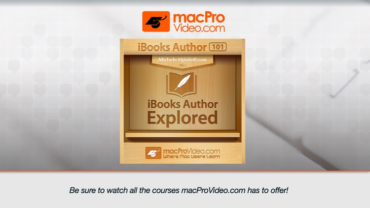 Course for iBooks Author 101 - iBooks Author Explored screenshot-0