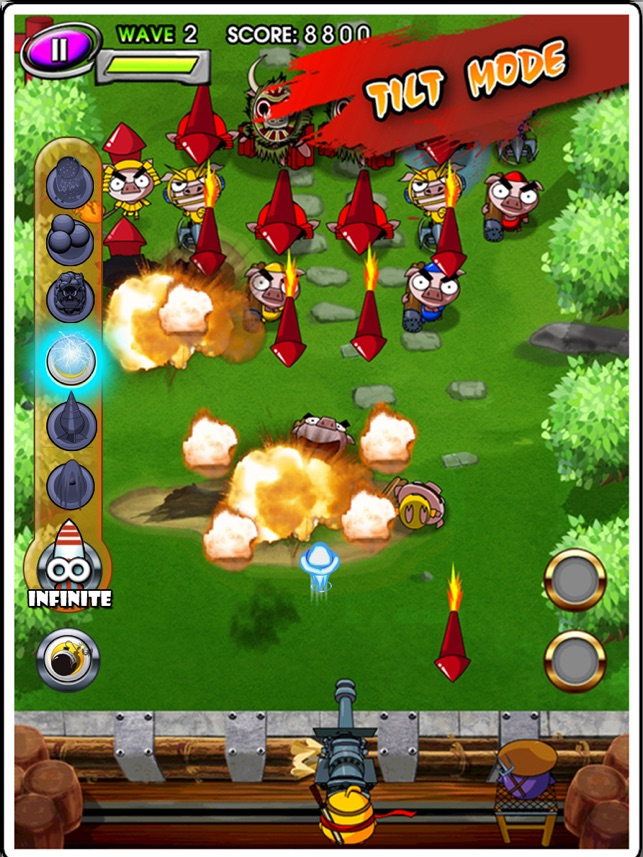 Ninja Chicken 2:Shoot'em Up HD Screenshot