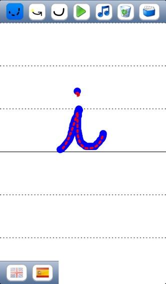 子供のためのベ - 英語とスペイン語の音で大文字と小文字のアルファベットの筆記体文字を書くことを学ぶのおすすめ画像4