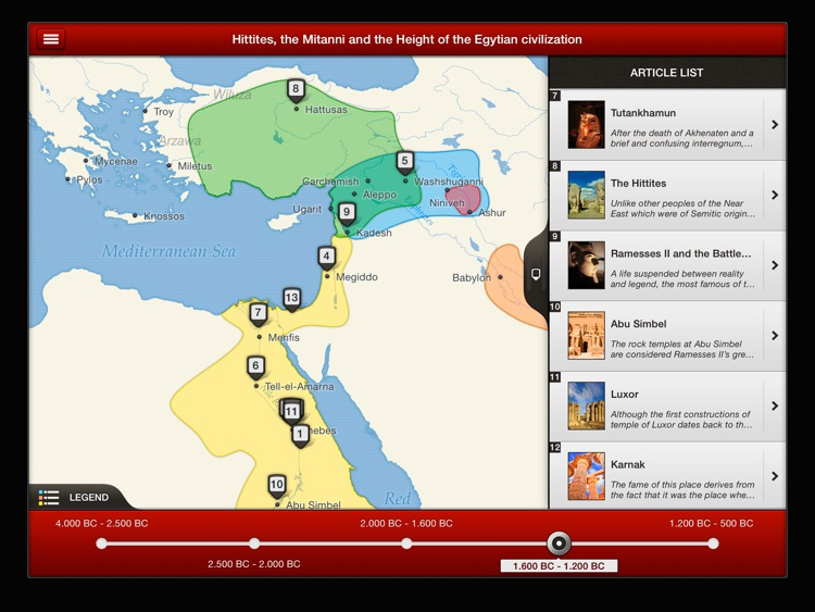 TIMEMAPS History of Ancient Egypt - Historical Atlas screenshot-4