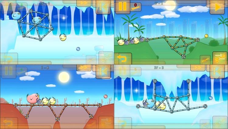 Fat Birds Build a Bridge! screenshot-3