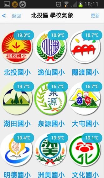 臺北市校園數位氣象網屏幕截圖3