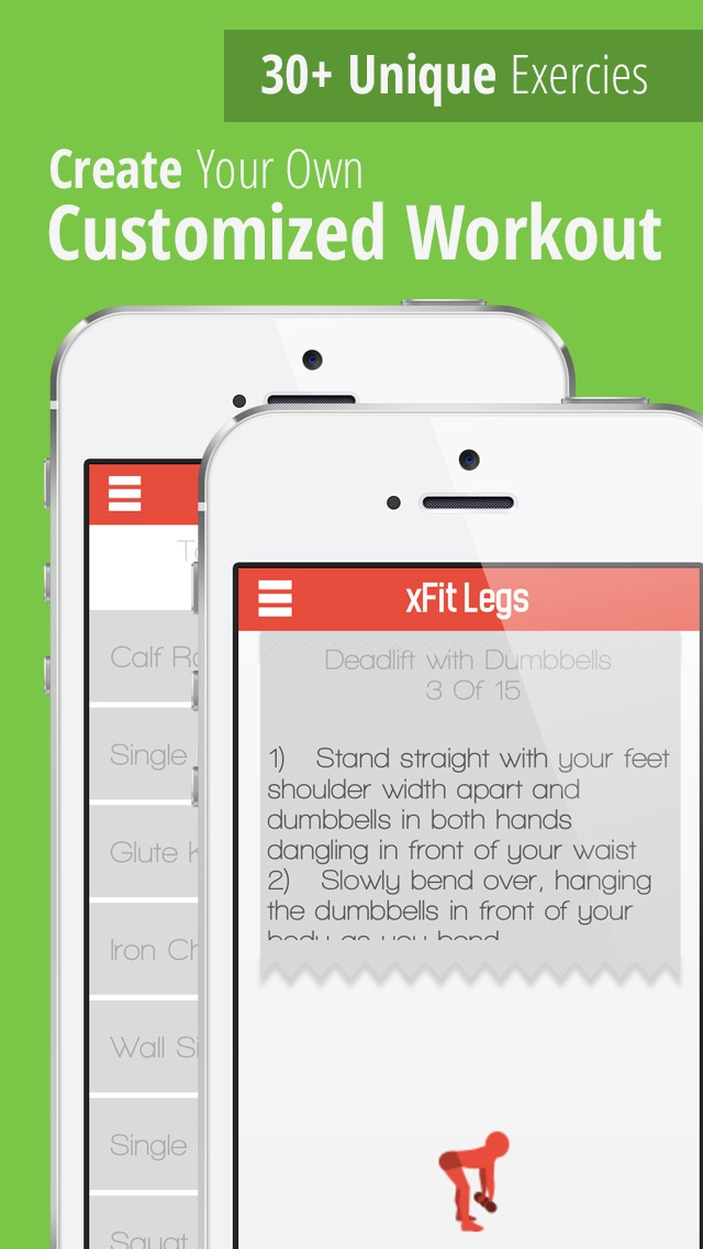 xFit Legs – Daily Workout for Tight Sculpted Thighs, Calves and Muscles screenshot three