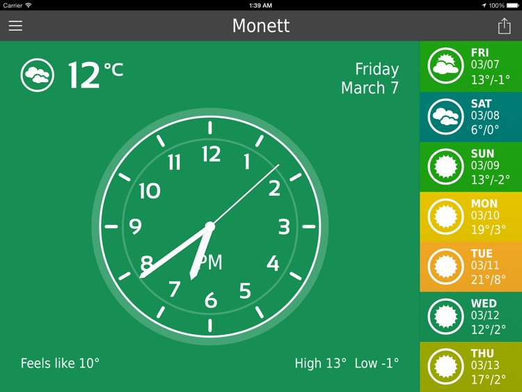 ClearWeather HD Free – Color Forecast screenshot-4