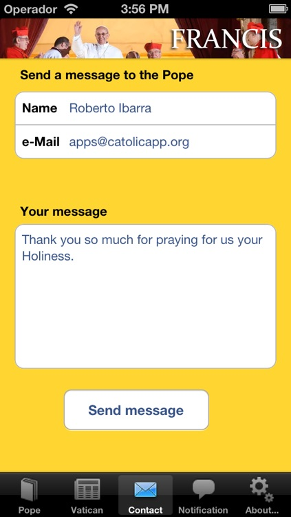 Messages from the Pope - Catolicapp.org