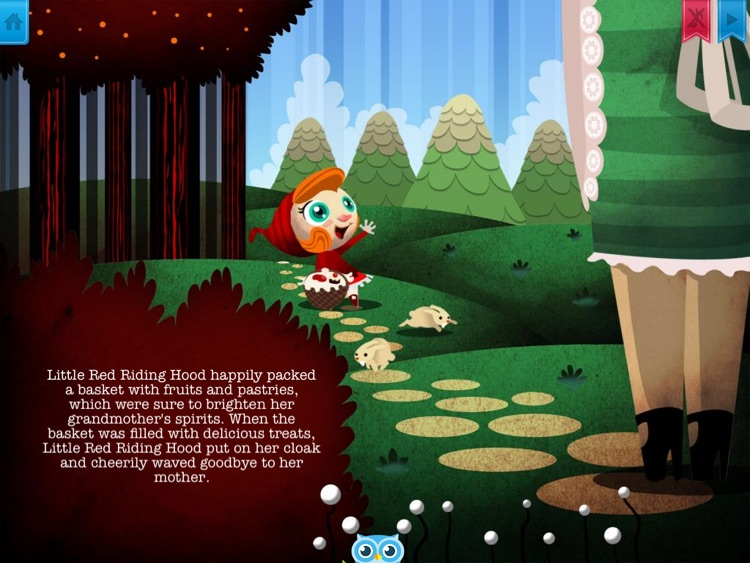 Little Red Riding Hood - Have fun with Pickatale while learning how to read! screenshot-3