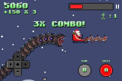 Super Mega Worm Vs Santa screenshot-3