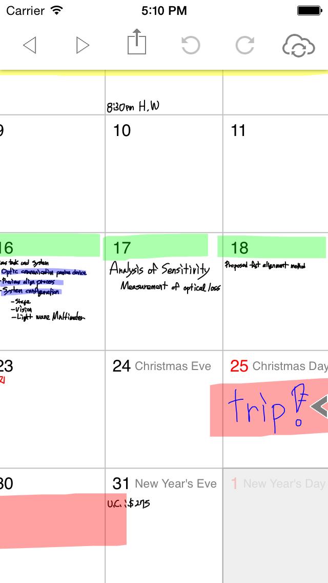 ポリカレンダー 2014 - スケジュールと手書き -のスクリーンショット1