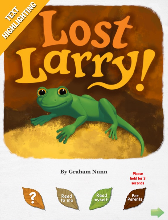 Lost Larry interactive story book - Wasabi Productions
