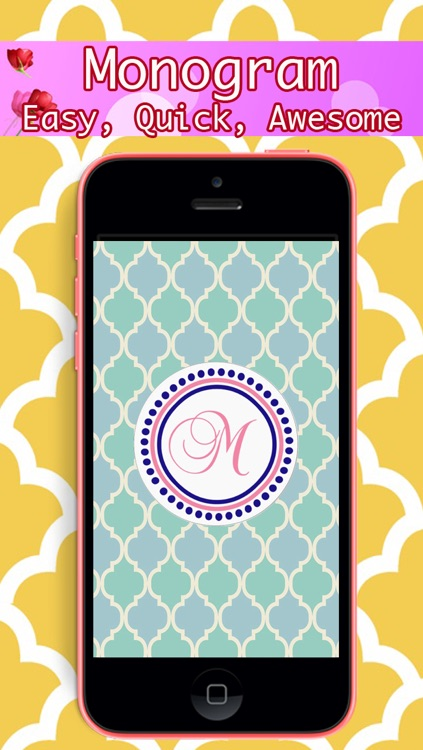 Monogram - Lock Screen & Home Screen Background Wallpaper screenshot-0