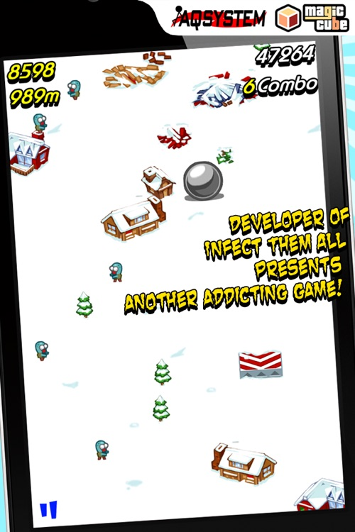 Squish The Zombies - Fun Time Killer Game with snowball screenshot-3