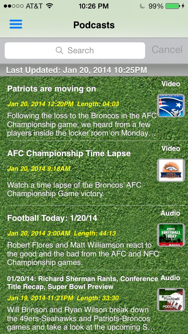 Pro Football Radio Live News Scores Schedule