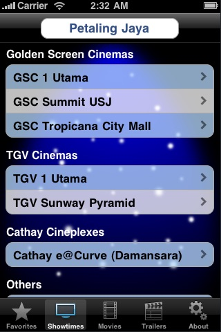 Screenshot #1 for CineApps Malaysia
