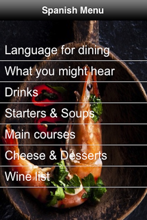 Spanish Menu screenshot-0
