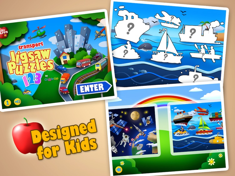Transport Jigsaw Puzzles 123 Free for iPad - Fun Learning Puzzle Game for Kids screenshot-3