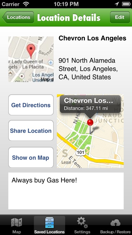 Location Manager Pro - Save, Share, Route, and Map all of your Favorite Locations!