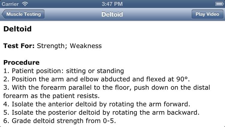 Musculoskeletal Exam-Shoulder screenshot-3
