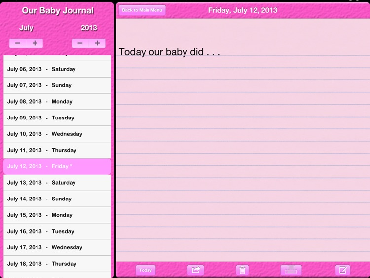 Our Baby Journal screenshot-3