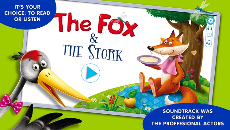 Fairy tales for children: Fox and Stork. Lite