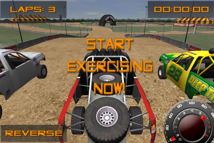GameFit Racing ( Exercise Powered Offroad Race Track Fitness Game )